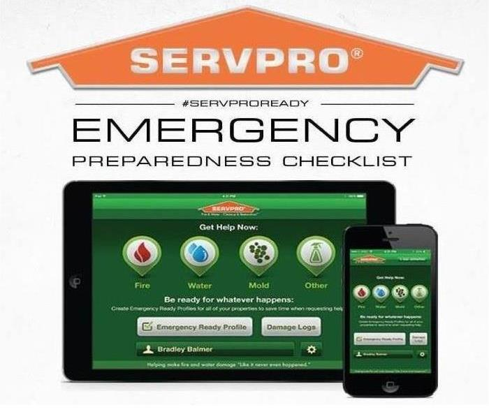 General Help at the touch of a button! Check out the SERVPRO Ready Plan Mobile App!